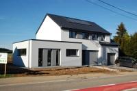 habitation nouvelle construction basse energie contemporain moderne toit plat Heinstert Attert architecte bâtisseurs gaumais réunis fertons ribeiro alter énergie Goffette