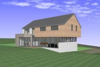 architecte maison habitation Ethe Virton Hinque projet vitré contemporrain 2