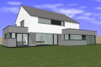 Architecte Messancy Architecte Arlon habitation Piron Hondelange Architecte Habay habitation maison basse énergie maison moderne crépi pierre 95