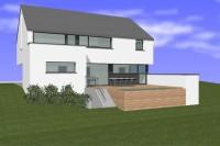 Vervloessem 4 architecte région Arlon architecte province Luxembourg maison basse énergie conception passive crépi isolant architecte Meix-le-Tige
