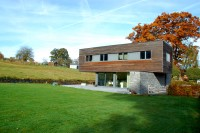 AAAA maison passive basse énergie Vielsalm Jadot Architecte Arlon habay contemporain bardage schiste ossature photovoltaïque 12