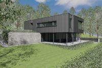 ZZ Architecte Arlon Attert Habay maison passive basse énergie contemporaine photovoltaïque zinc 2