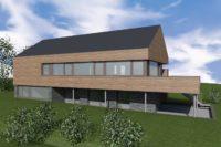 ZZ Margaux maison basse énergie passive architecte arlon habay attert cèdre bardage schiste pompe à chaleur contemporain 2